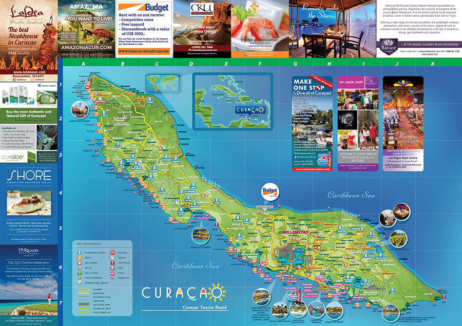 CURACAO MAP INT